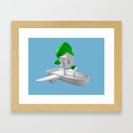 Tree House Boat Framed Art Print