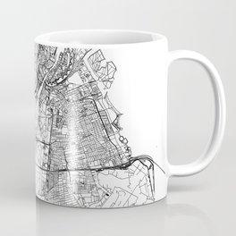 Copenhagen White Map Coffee Mug