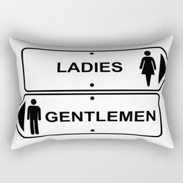 Ladies and Gentlemen Rectangular Pillow
