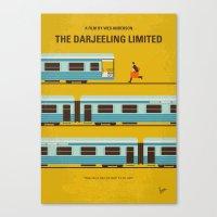 No800 My The Darjeeling Limited minimal movie poster Canvas Print