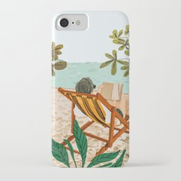 Vacay Book Club #illustration #tropical iPhone Case