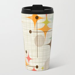 Mid Century Modern Starbursts and Globes 3a Travel Mug