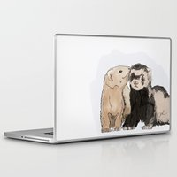 ferret Laptop & iPad Skins featuring Ferret Kisses by Dannie Ann
