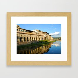 The Arno River - Florence Italy Framed Art Print