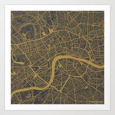 London - Ocher Art Print