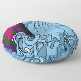Psychedelic Euphoria Floor Pillow