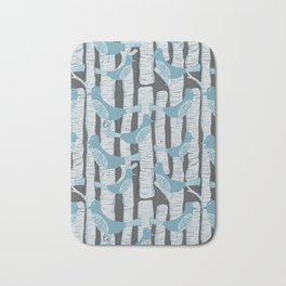 For the Birds and Birch Trees Bath Mat
