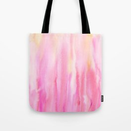 Watercolor Abstract Pink Pattern Tote Bag