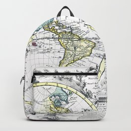 World map wall art 1714 dorm decor mappemonde Backpack
