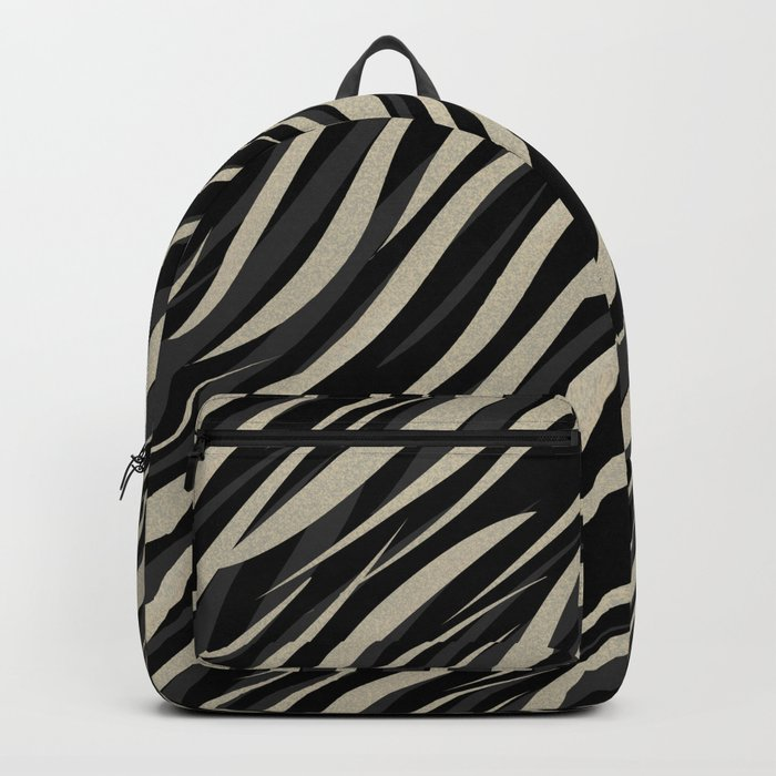 Tiger abstract striped pattern . Backpack