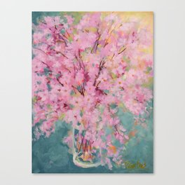 Spring Cherry Blossoms Canvas Print