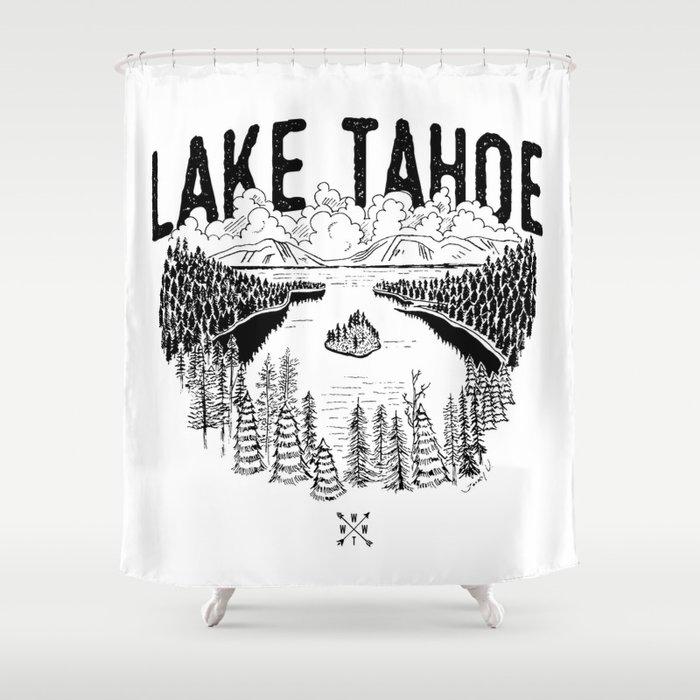 Lake Tahoe - We Who Wander Threads Shower Curtain