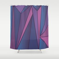 crystals Shower Curtains featuring Crystals by DaceDesigns