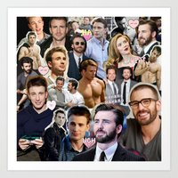 chris evans Art Prints featuring Chris Evans by lastminutebinge
