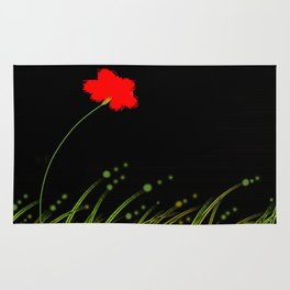 A red flower Rug