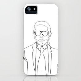 Karl Lagerfeld portrait iPhone Case