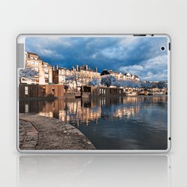 Nantes Riverside Scenery - Winter Blue Fantasy Laptop & iPad Skin