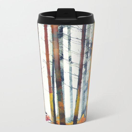 Autumn Hunt Metal Travel Mug