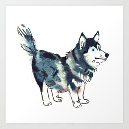 Céline the Corgski Art Print