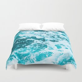 Deep Turquoise Sea - Nature Photography Duvet Cover