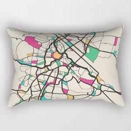 Colorful City Maps: Vienna, Austria Rectangular Pillow
