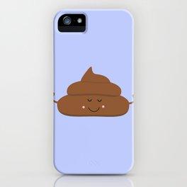Meditating poo iPhone Case