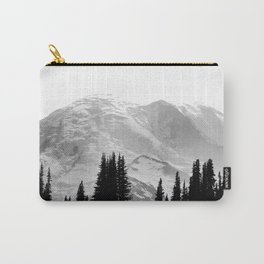 Mount Rainier Black and White Carry-All Pouch