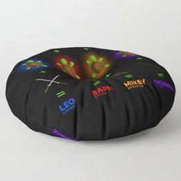 Ninja Turtle Recipe Floor Pillow