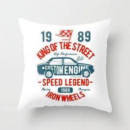 king of the street Throw Pillow