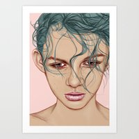 swim Art Prints featuring SWIM by Laura O'Connor