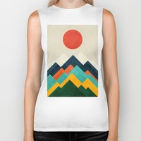 outdoor Biker Tanks featuring The hills are alive by Picomodi