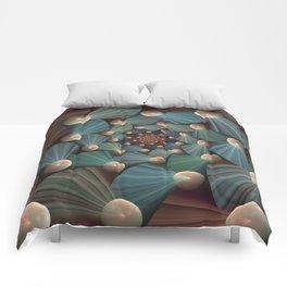 Graphic Design, Modern Fractal Art Pattern Comforters