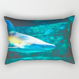 Rainbow Shark Underwater Rectangular Pillow