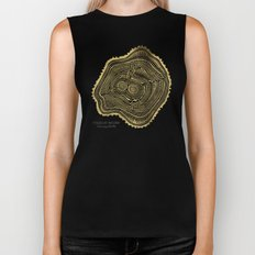Peachleaf Willow – Gold Tree Rings Biker Tank