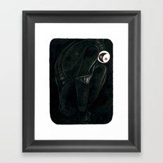 Moonbot #0: Black Framed Art Print