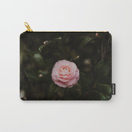 Pink Rose with Rain Drops Carry-All Pouch