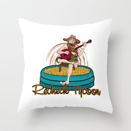 Redneck Tycoon Throw Pillow