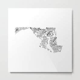 Maryland - Hand Lettered Map Metal Print