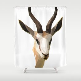 Low Poly Antelope Shower Curtain