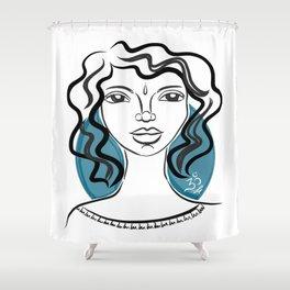 Blue Shakti Shower Curtain