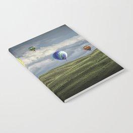 Hot Air Balloons over Green Fields Notebook