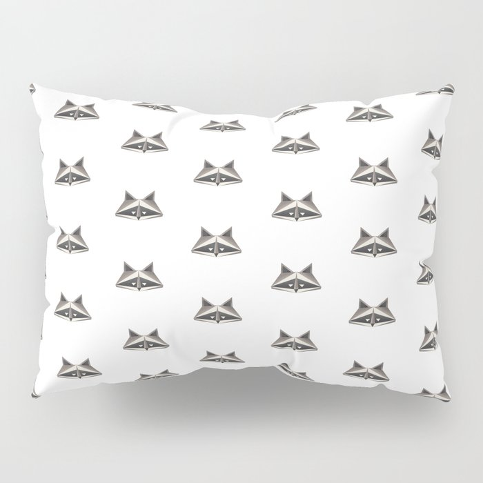 Raccoon Minimalist Pattern Pillow Sham