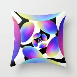 Optimistic Energy Throw Pillow
