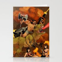 muscle Stationery Cards featuring Muscle Bro by Dave Collinson