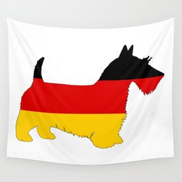 German Flag - Scottish terrier Wall Tapestry