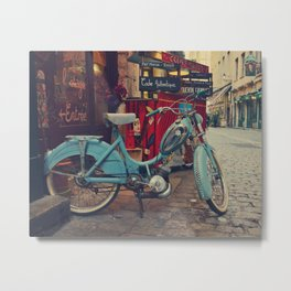 Let's go for a vintage ride in Lyon - Fine Art Travel Photography Metal Print