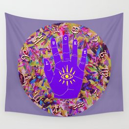 Lucky Zodiac Hand 17 Circle v2 Wall Tapestry