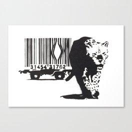 Banksy Animal Rights Artwork, Jaguar Tiger Barcode Prints, Posters, Bags, Tshirts, Men, Women, Youth Canvas Print