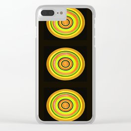 Circle #3  Multiplied Clear iPhone Case
