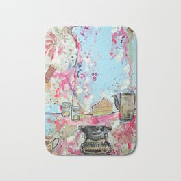 WORK SPACE - madewithunicorndust by Natasha Dahdaleh Bath Mat